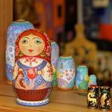 Matryoshka tradycyjna Rosyjska pamiątka Fotografia Royalty Free