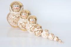 Matryoshka, une poupée en bois russe Images libres de droits
