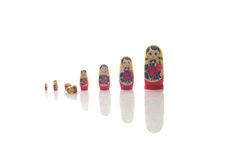 Matryoshka woody dolls russian toys Stock Photography