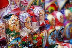 Matryoshkas. Doll in red square, Moscow Royalty Free Stock Image