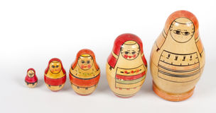 Matryoshkas do vintage Imagem de Stock