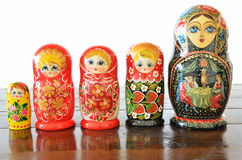 Matryoshkas dolls Stock Images