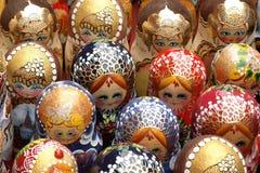 Matryoshkas Many-colored 2 Fotos de Stock Royalty Free