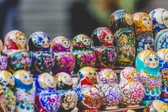 Matryoshkas in souvenir shop in Riga, Latvia. Stock Photo
