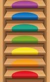 Mats Rainbow Colors coloreado escalera Imagen de archivo libre de regalías