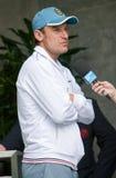 Mats Wilander wordt dat in Roland Garros wordt geïnterviewdj Royalty-vrije Stock Fotografie