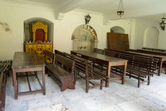 Matsal i den Bachkovo kloster Arkivfoto