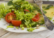 Matsallad med tomaten Arkivfoto