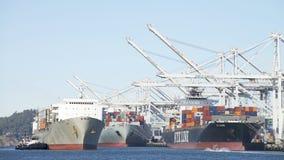 Matson ładunku statek MAUI wchodzić do port Oakland Fotografia Royalty Free