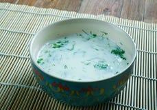 Matsoni Caucasian cuisine Stock Images