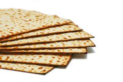 Matsot - symbol of Passover. Isolated over white background Royalty Free Stock Photography