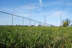 Matsqui Canadian Military Transmitting Antennas. Transmitting antennas used by the Canadian military in Matsqui, British Columbia Stock Photo