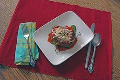 Matställe för välfylld peppar Fotografering för Bildbyråer