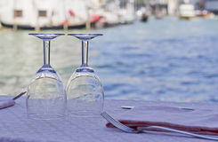 Matställe i Venedig 3 Arkivfoto