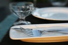Matställen bordlägger specificerar arkivfoton