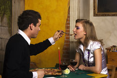 matställepizzeriaromantiker Arkivbild
