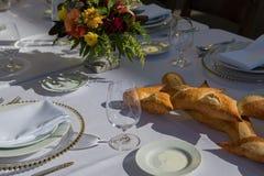Matställetabell som äter middag fint Royaltyfria Bilder