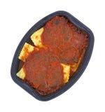 matställe microwaved tv Royaltyfri Fotografi