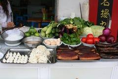 Matstall i Kina Arkivbilder
