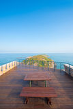 Matsu Island Headland Viewpoint  V. A stunning seascape and headland scenery from the viewpoint atop the Military History Museum in Beigan Island of the Matsu Royalty Free Stock Images