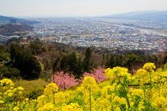 Matsuda-Skylineansicht im Frühjahr, Kanagawa, Japan Stockfotografie