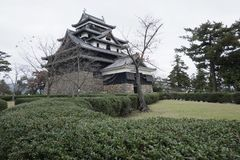 Matsue castle of national treasure in Shimane prefecture. Matsue Castle, a national treasure in Shimane Prefecture, Japan Royalty Free Stock Images