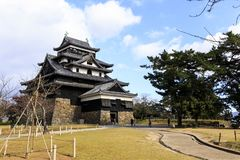Matsue Castle Towers Stock Foto