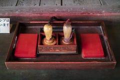 Matsumato - Japón, el 6 de junio de 2017: Sellos del turista en Japón a ser c Imágenes de archivo libres de regalías
