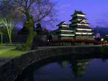 Matsumoto Castle 06, twilight, Japan Stock Photography