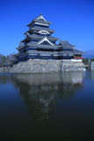 Matsumoto castle. In Nagano from Japan royalty free stock photo