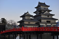 Matsumoto Castle ( 3 ) , Japan. The castle's origins go back to the Sengoku period. At that time Shimadachi Sadanaga of the Ogasawara clan built a fort on this Royalty Free Stock Images