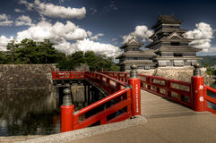 Matsumoto castle with blue sky, Japan Stock Photo