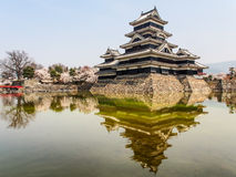Matsumoto castle with blue sky, Matsumoto, Japan 2 Royalty Free Stock Images