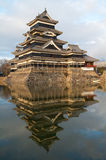 Matsumoto castle at dusk Stock Photos