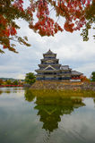 Matsumoto castle in early autumn Royalty Free Stock Image