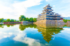 Matsumoto Castle Evening Soft Light Reflection Stock Photography