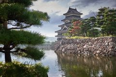 Matsumoto castle, Japan, August 2017. Famous Matsumoto castle, part of the UNESCO World Heritage, Japan, August 2017 Stock Images