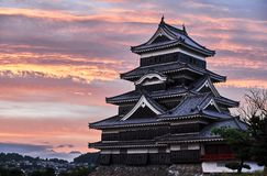 Matsumoto castle, Japan, August 2017. Famous Matsumoto castle, part of the UNESCO World Heritage, Japan, August 2017 Royalty Free Stock Photo