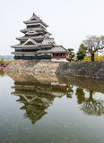 Matsumoto Castle in Japan in cloudy day Stock Photo