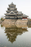 Matsumoto Castle in Japan in cloudy day Royalty Free Stock Photos