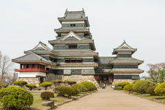 Matsumoto Castle in Japan in cloudy day Stock Image