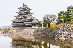 Matsumoto Castle in Japan in cloudy day Stock Photography
