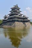 Matsumoto castle Japan. Matsumoto castle from the distance stock photos