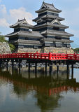 Matsumoto castle Japan. Matsumoto castle from the distance Royalty Free Stock Photography