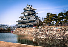 Matsumoto Castle , Japan. Matsumoto, Japan - March 06, 2015: Matsumoto Castle on a sunny spring day Royalty Free Stock Photos