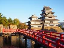 Matsumoto Castle. Matsumoto, Japan - October 24, 2016: Matsumoto Castle, one of Japan`s premier historic castles,known as `Crow Castle` due to its black exterior Stock Photography