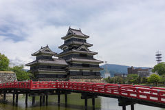Matsumoto Castle. Matsumoto, Japan.  is one of the most complete and beautiful among Japan's original castles. It is a hirajiro - a castle built on plains Royalty Free Stock Photos