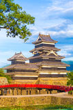 Matsumoto Castle Keep Close Telephoto Bridge Royalty Free Stock Photos