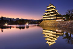 Matsumoto castle in Matsumoto, Japan at night Royalty Free Stock Photo