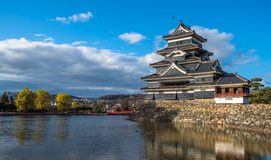 Matsumoto castle, national treasure of Japan Royalty Free Stock Photography